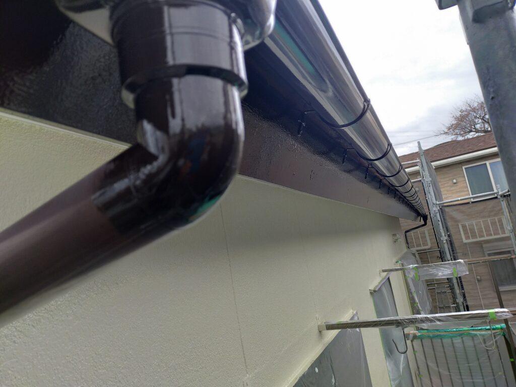 付帯部塗装 雨樋破風