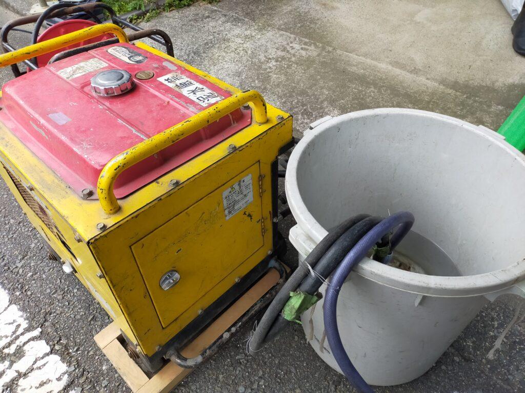 サイディングDIY塗装の高圧洗浄